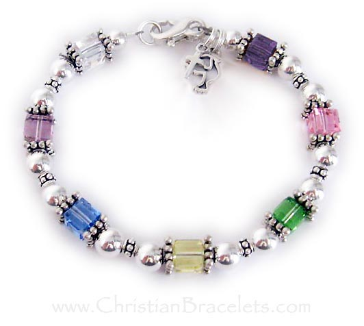 Easter Bracelet with a Cross and Dove charm - CB-Easter1