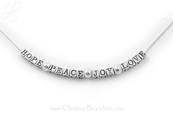 Advent Bracelets - HOPE PEACE JOY LOVE
