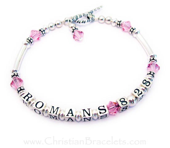 Romans 8:28 Bracelet - any Bible Verse and any colors