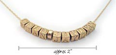 Gold Block Letter Name Necklace