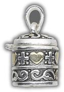 Prayer Box Charm tuck a message inside 21x18mm cyliner