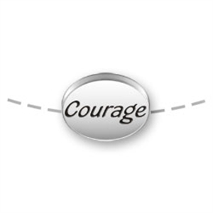 Courage Bead for Necklace or Bracelet