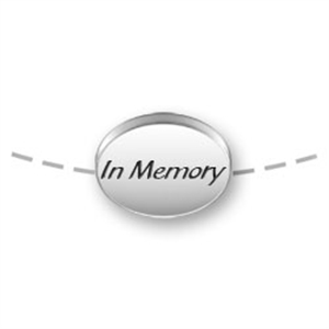 In MEMORY Bead for Necklace or Bracelet