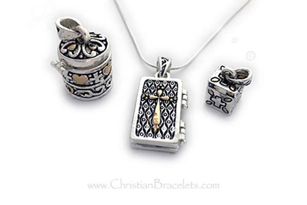 Prayer Box Necklaces - Round, Flat and Square